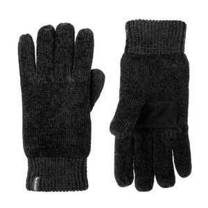 ISOTONER Black Chenille Glove Palm Patch Insulated